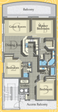 Calypso Tower 3 - Plan 2 South End