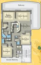 Calypso Tower 3 - Plan 2 North End