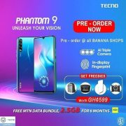 Tecno Phantom 9 With Triple Camera Available for Pre-Order.