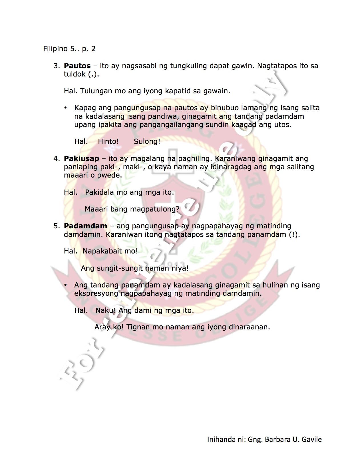 Salitang Ugat Worksheet Grade 4