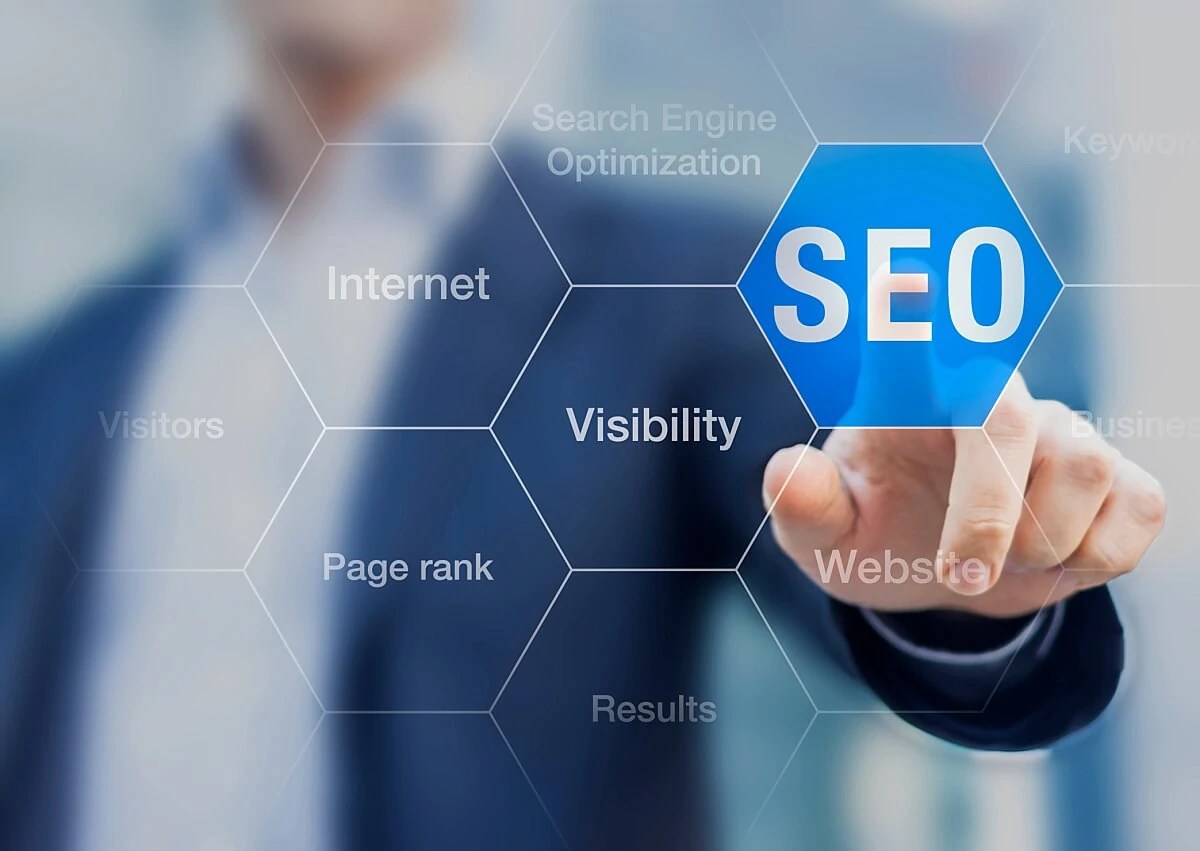 Search Engine Optimization Consultant Touching Seo Button