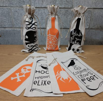 Collection of Halloween Wine Bags