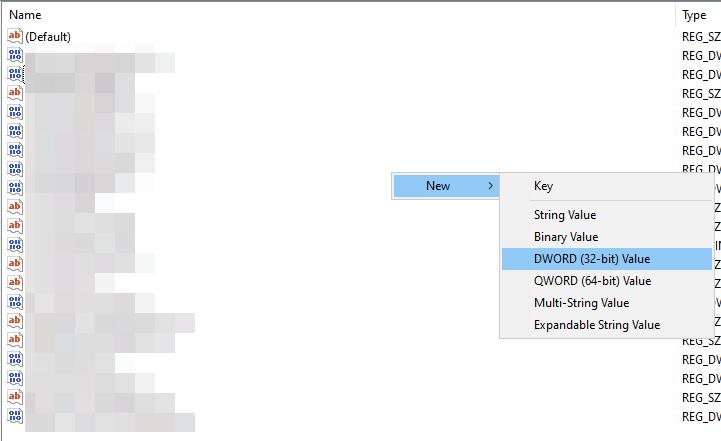 Een-nieuwe-DWORD-key-aanmaken Zoekfunctie Windows 10 werkt niet