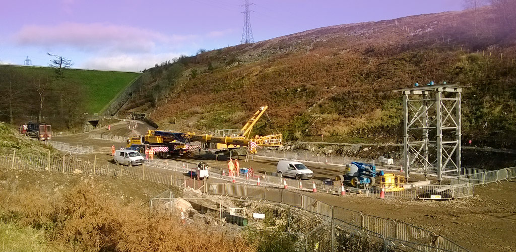 Start of a major tunnel structure in the Welsh Valleys