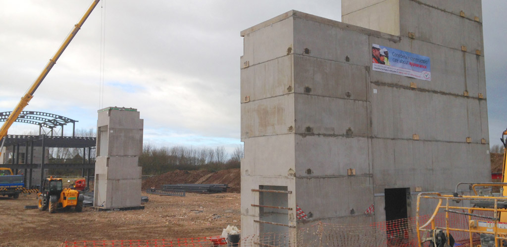 Babraham – volumetric box structural core system shows precast advantages