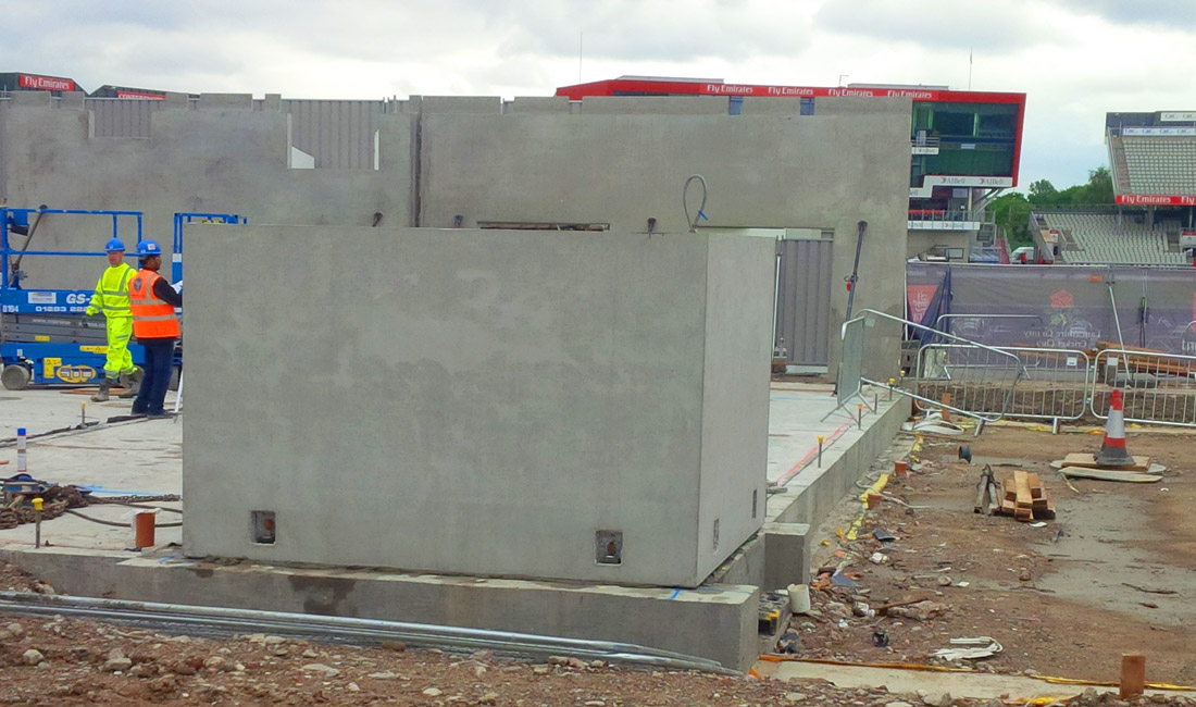 Emirates Old Trafford update 5 – first PreFastCore boxes installed