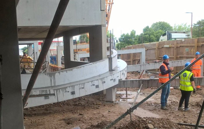 PCE offsite produced concrete ramp beams