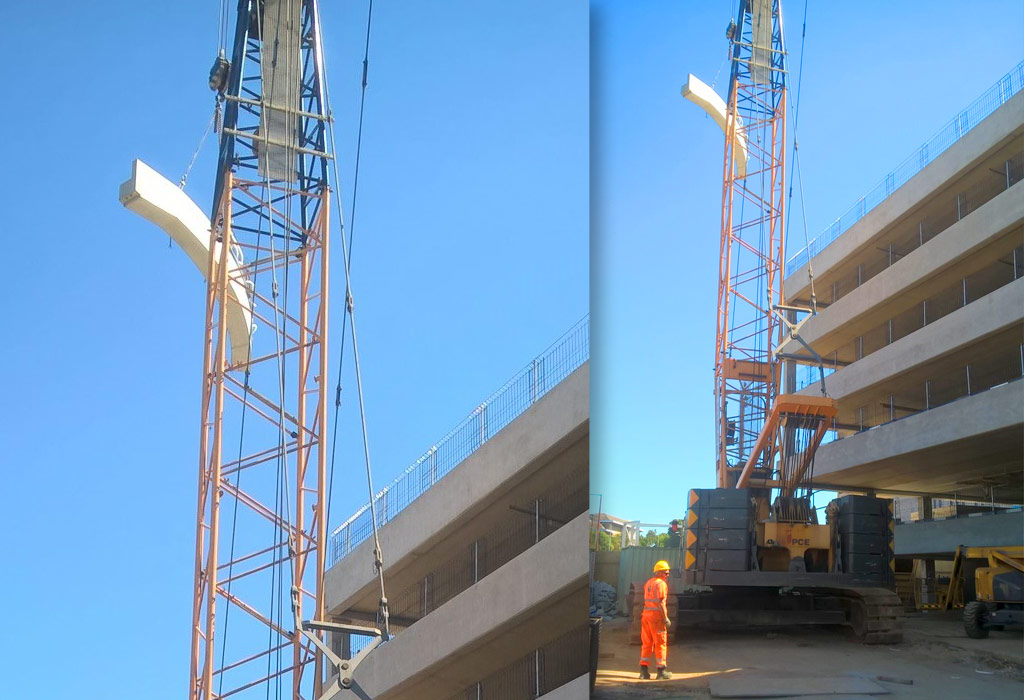 Bracknell update 10 – last curved ramp beam is installed