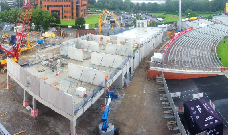 Emirates Old Trafford update 7 – construction of 1st floor of hotel
