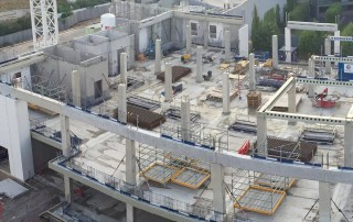 Fast erection programmed is shortened by offsite precast