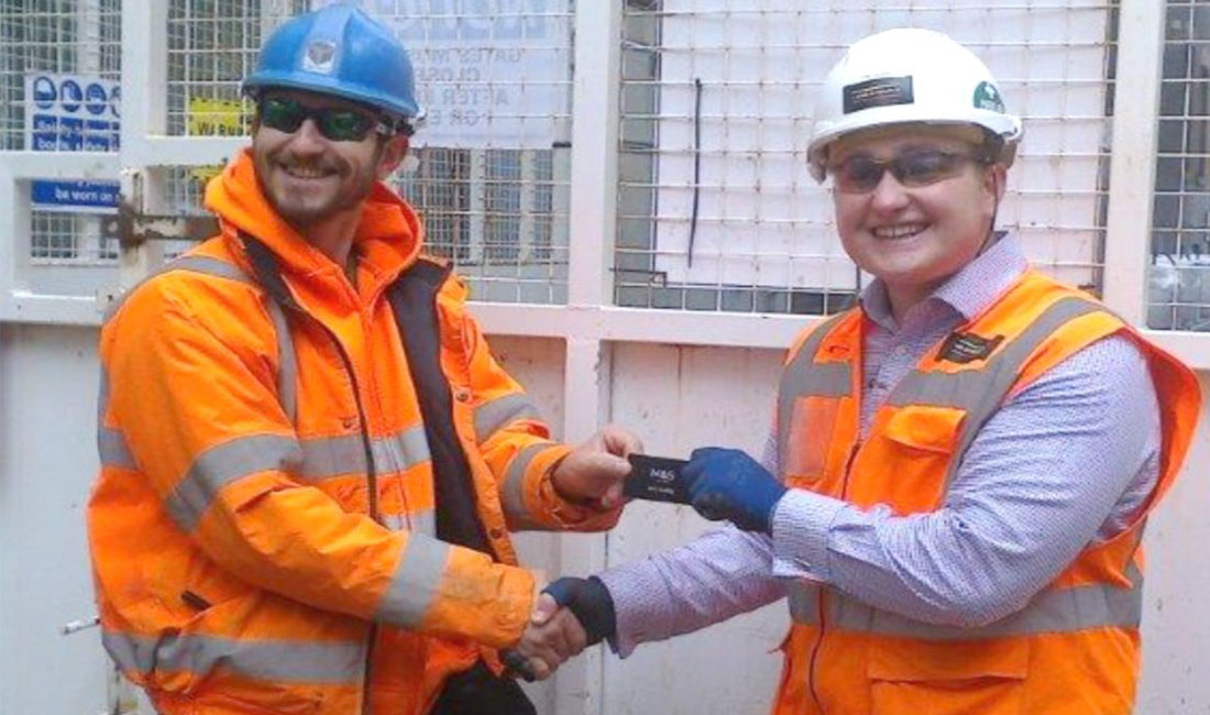 On site safety award at St Peter's Square