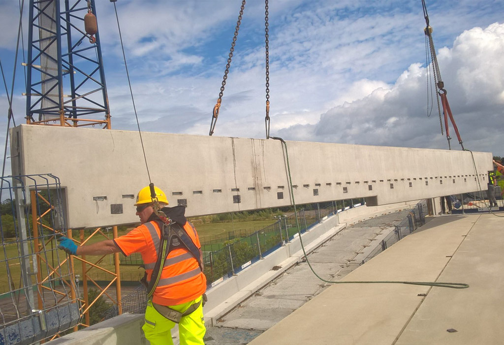 Precast concrete brings a huge reduction of on site construction times