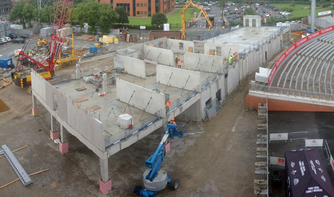 Precast concrete units for first floor of Old Trafford Hilton
