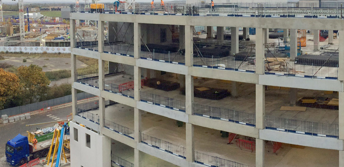 Offsite factory production of the stair and lift shaft boxes