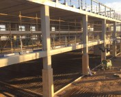 The lift and stair cores are constructed with PCE's Prefastcore system