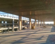 PCEs GT floor units are used in long span multi-storey car park construction