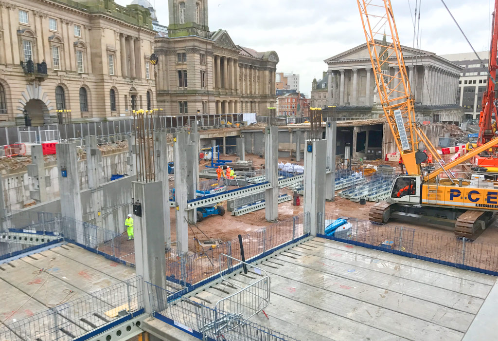 Paradise Circus update 7 – hybrid structural frame in Birmingham