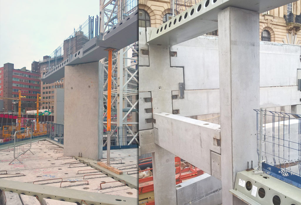 Paradise Circus update 8 – two storey hybrid structural frame takes shape