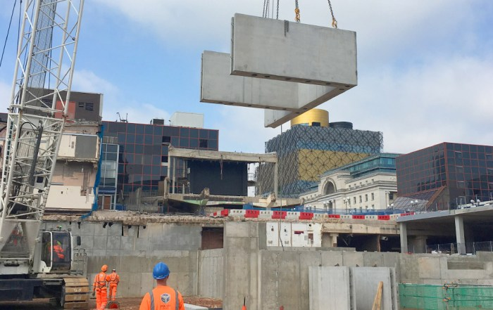 Precast concrete installation by PCE in Birmingham