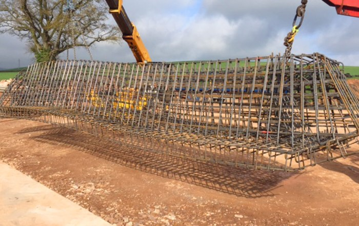 Precast stairs in construction for Mersey Gateway Project