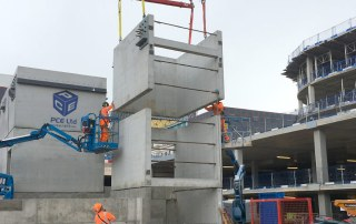 Offsite constructed precast concrete units in Birmingham