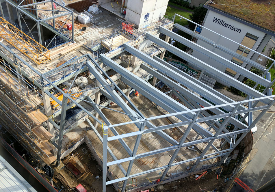 Royal Holloway update 3 – precast and insitu concrete with structural steelwork
