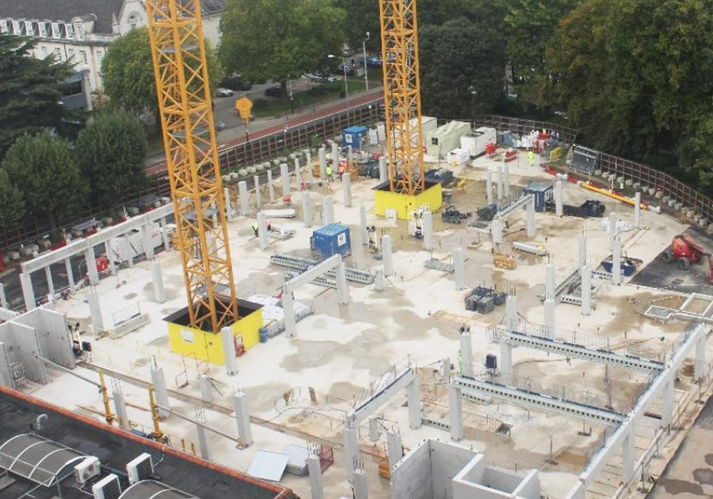Kingston University Town House update 2 – first precast concrete elements erected