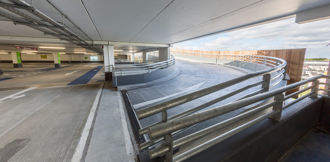 1,300 space multi-storey carpark designed and built by PCE Ltd