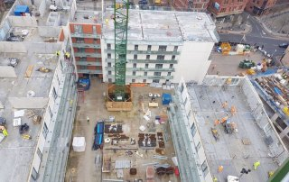 PCEs Offsite design and build solution for the four high rise apartment blocks