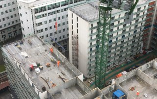 On site construction progress of Chapel Wharf Salford
