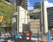 Precast concrete offsite engineered component at Chapel Wharf in Manchester