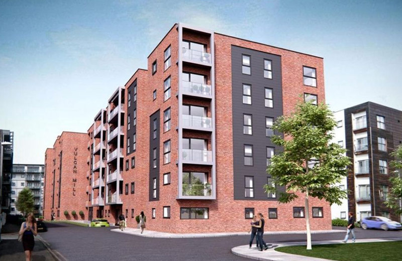 Hybrid structure by PCE for the The Loom a Residential development in Manchester