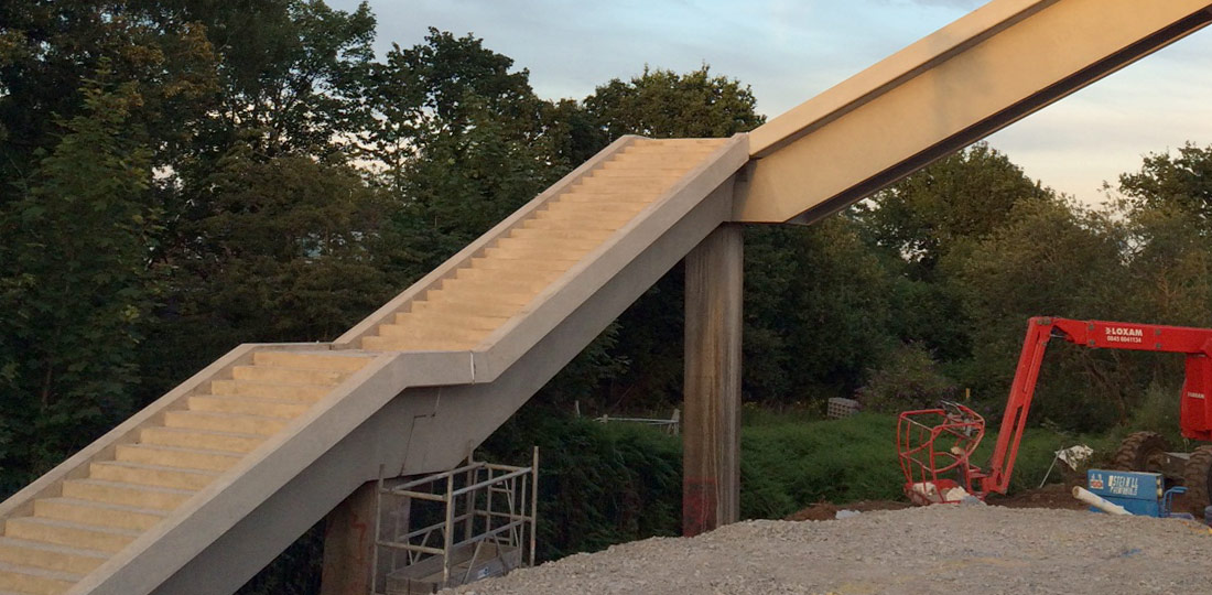 Six new precast concrete units weighing up to 32 tonnes