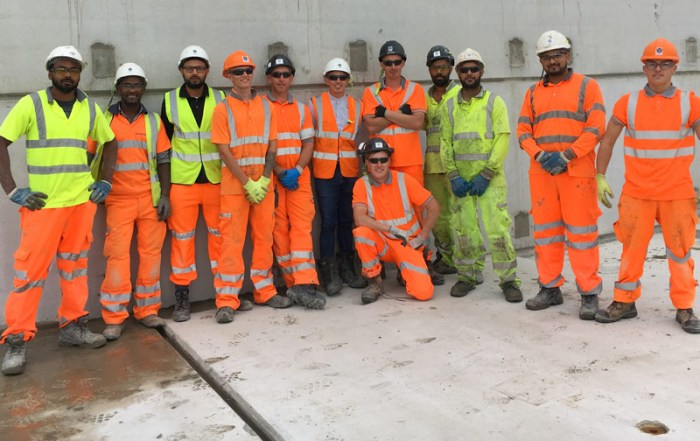 The construction team has completed the offsite engineered Hybrid frame