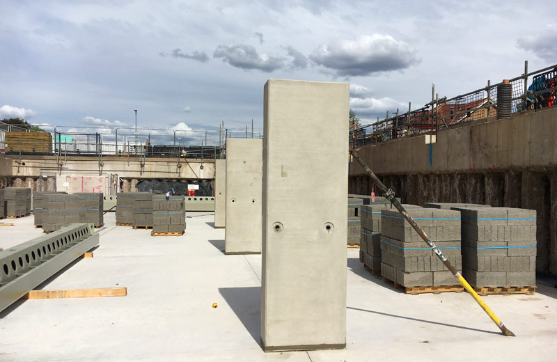Offsite engineered precast concrete columns by PCE Ltd