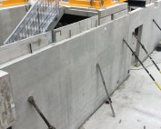 Precast concrete basement walls by PCE in Manchester