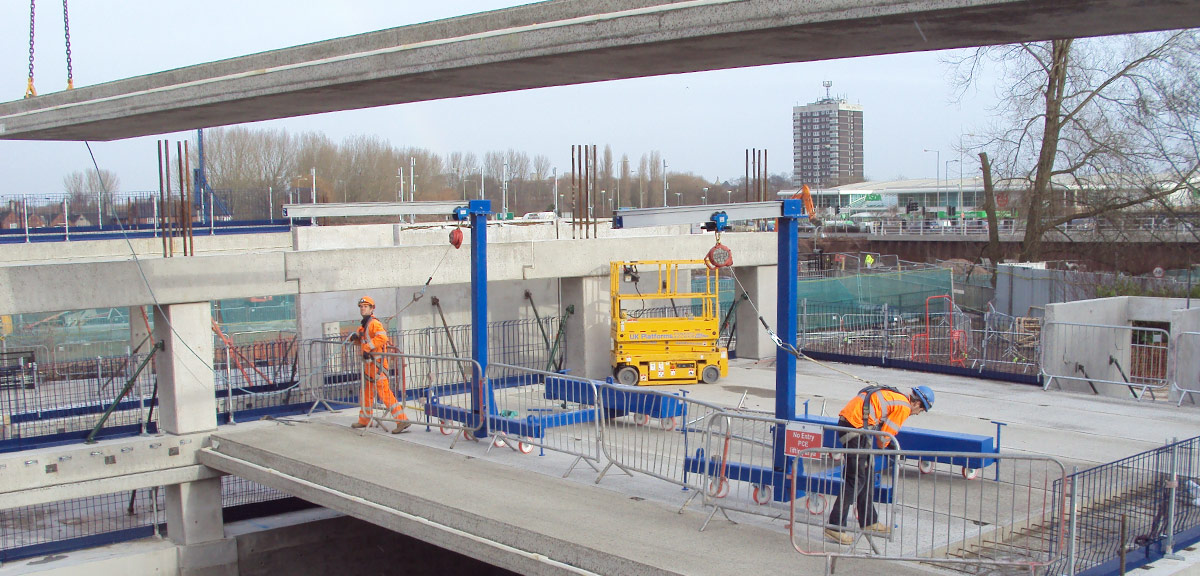 Reduction in the height of the finished car park is also possible by using GT floor units