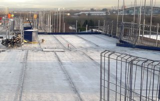 PCE has completed construction of level 5 Hollowcore flooring at the Vulcan Mill residential development