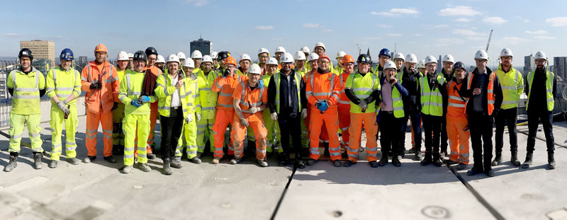 The PCE Construction team at Chapel Wharf