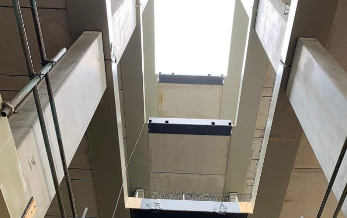 768 pre-stressed precast concrete flooring units installed on a logistically restricted site