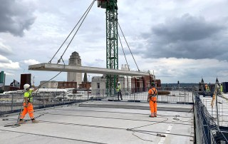 A total of 768 pre-stressed precast concrete flooring units have now all been safely delivered by PCE