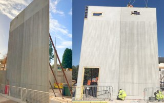 Construction of a five storey research building using PCE's Offsite Engineered HybriDfMA frame system