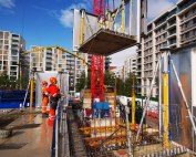 The HybriDfMA approach facilitates a broader prefabrication strategy with façade sections being preassembled and fixed offsite