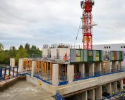 The innovative off-site engineered Hybrid construction approach known as HRS (High Rise System)