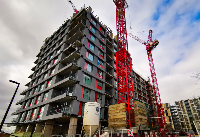 PCE's 'kit of parts' approach for each level consists of 46 reinforced precast concrete units