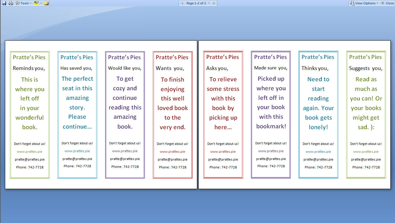 Word Bookmark Template. 13 download in pdf psd. how to design and ...