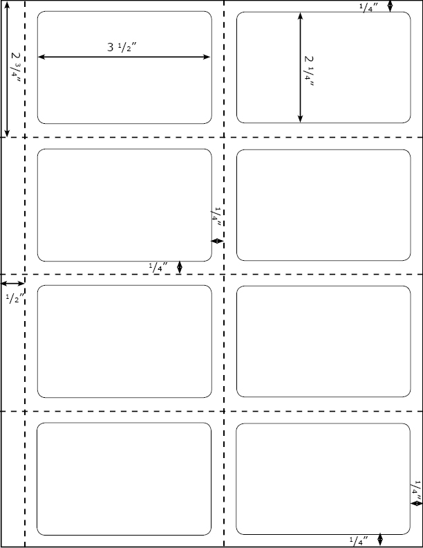 Large Label Template 13kb inch 5168 white mailing 10 sheets 40 – Large Label Template