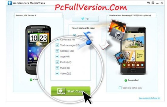 Wondershare MobileTrans 7.8.1 Crack + Serial Key Download