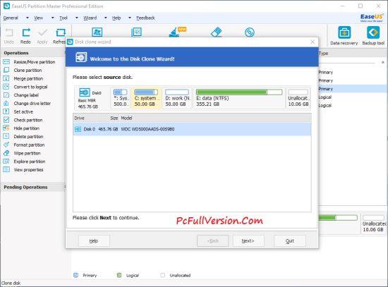 EaseUs Partition Master 12 Crack Professional Edition Download