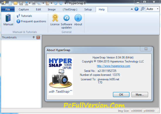 HyperSnap 8 License Key